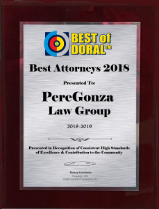 Best of Doral™ introduces Best of Doral Plaques!
